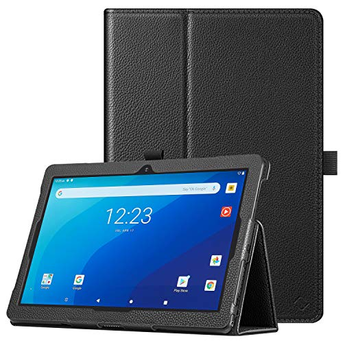 "Fintie Case for Onn. 10.1"" Tablet Pro, Premium Vegan Leather Folio Protective Stand Cover with Pencil Holder for Onn 10.1 inch Pro Tablet (Model: 100003562) - Black"