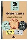 moses. 80626 Cook und Style Küchen-Etiketten, 180 Etiketten für Die Küche und Selbstgemachtes