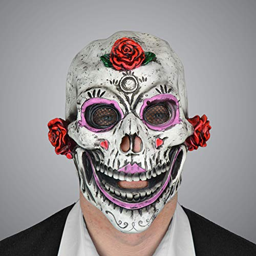 Scream Machine Mscara de ltex para Halloween Da de los Muertos, para Adultos