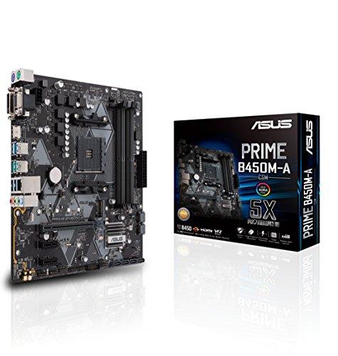Asus AMD B450, Motherboard Prime B450M-A/CSM, AMD Ryzen AM4, mATX con Cabezal Aura Sync RGB, DDR4 a 4400MHz, M.2, HDMI 2.0b, SATA 6Gbps, USB 3.1 Gen 2
