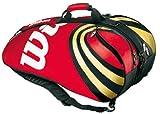 WILSON Thermo-Racketbag BLX Tour Six Plus, rot/schwarz/Gold, 76x36x33 cm