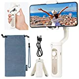 Hohem Gimbal Stabilizer for Smartphone 3-Axis Phone Stabilizer 0.5lbs Foldable Handheld Gimble for iPhone 11 Pro Max/11/XS Max/Samsung/Android Video Vlogging Youtuber - iSteady X White