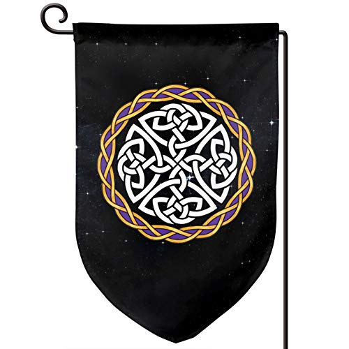 Irish Shield Warrior Celtic Cross Knot Outdoor Garden Flags Decor 12.5x18 Inch Pattern Double-Sided Printing