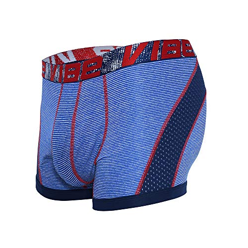 Andrew Christian Vibe Stripe Sports Mesh Boxer Blau S