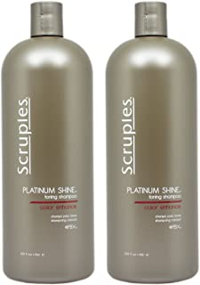 Scruples Liter Platinum Shine Brightening Shampoo 33.8 Ounce Pack of 2