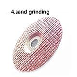 ZhuJinSheng Disco da taglio Mole abrasive in acciaio inossidabile da 100 mm Mole per disco da taglio in lamiera di metallo Dremel Smerigliatrice rotante Utensili per pietra, 4 Mole per sabbia
