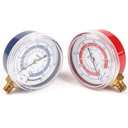 Atoplee 1 paire Air Conditioner R410 a R134 a R22 réfrigérant basse et haute pression Jauge de PSI KPA