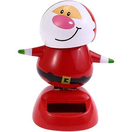 St/ück Weihnachten Wackelfigur Wackel Solar Figur Tanzende Solarwackelfigur Kinder Spielzeug Solarbetriebene Solarfigur F/ür Auto B/üro Zuhause Dekor