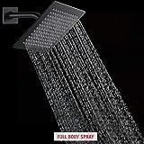 POP Matte Black Faucet Set, Bathroom Rainfall