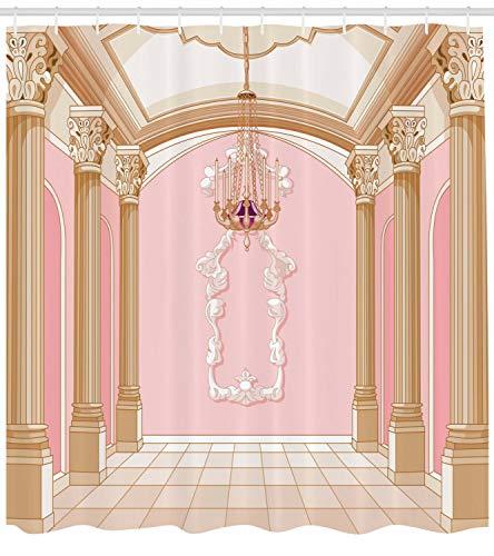 Ballroom Interior Magic Castle Kronleuchter Prinzessin Home Decor Duschvorhang