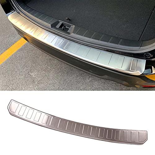 Cubierta protectora de parachoques trasero de acero para coche, placa protectora para el umbral de la puerta del maletero del coche, tira de ajuste de la cubierta trasera para Subaru Forester SK 2019