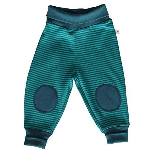 Leela Cotton Pantalon pour bébé/enfant avec rayures en pur coton bio - Bleu - 74 cm/80 cm