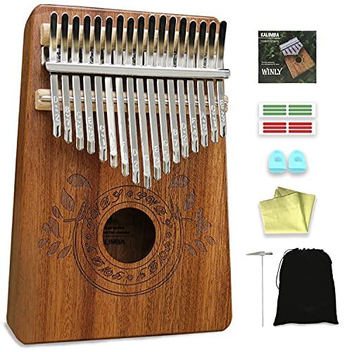 UNOKKI Kalimba Thumb Piano - Kalimba 17 Key Musical Instruments w/ Kalimba Song Book Instructions, Tuning Hammer & More! Thumb Piano for Kids &...