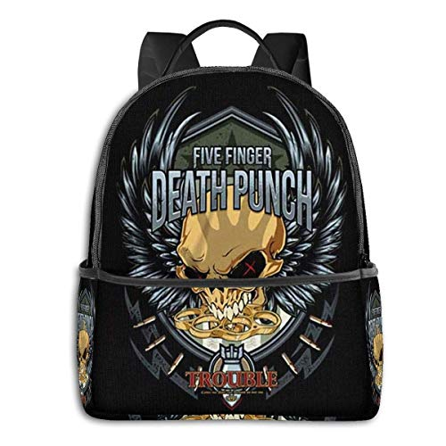 Five Finger Death University School Large Capacity Backpack Computer Bag Unisex Suitable Hiking Variety Outdoor Sports