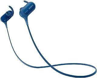 سوني MDRXB50BS/L سوني MDR-XB50BS سماعة اذن لاسلكية للرياضة، ازرق - ازرق (حزمة من 1)