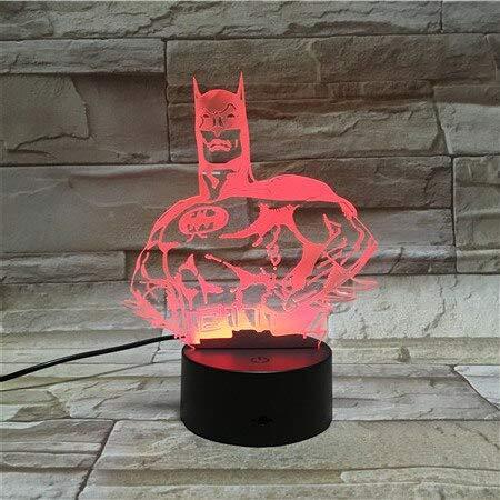 jiushixw 3D acryl nachtlampje met afstandsbediening kleurverandering tafellamp afbeelding film kunst lava Halloween stemming huis interieur kamer kleur make-uptafel lamp