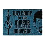 Pyramid Felpudo Star Trek Bienvenido al Mirror Universe 60x40x1.5cm Azul Coco Negro