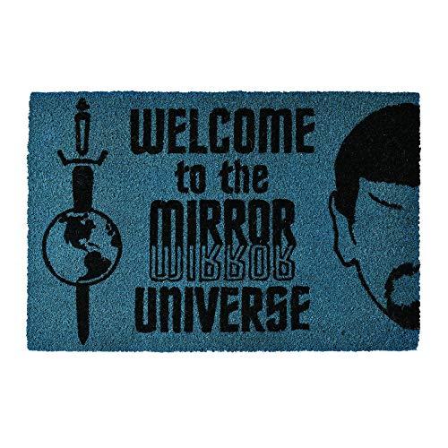Pyramid Star Trek Fußmatte Welcome to The Mirror Universe 60x40x1,5cm Kokos blau schwarz