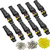 DONJON Conector eléctrico Impermeable kits, Coche Impermeable Rápido Enchufe 2 Pin, Ench...