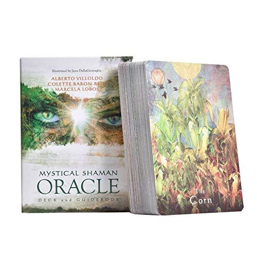 Dire-wolves Mystical Shaman Oracle Cards: Carte de Jeu de Cartes de Tarot avec 64 Cartes