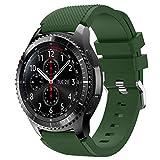 Vozehui Correa compatible con Samsung Gear S3 Frontier/Gear S3 Classic/Galaxy Watch 46mm/huami amazfit 2/huawei watch GT/huawei watch 2 pro Smartwatch, 22mm Soft Silicone Sport Wrist Band