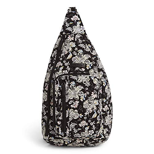 Vera Bradley Women's Signature Cotton Medium Sling Backpack, Holland Garden, One Size
