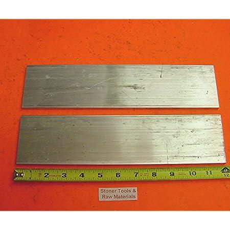 """10 Pieces 3//8/"""" X 1/"""" X 12/"""" Long ALUMINUM FLAT BAR STOCK SOLID .375/"""" 6061-T6511"""