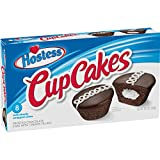 Chocolate frosted White cupcakes Creamy filled cup cakes Signature Hostess squiggle