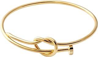 SENFAI Twist Knot Nail Bangle Heart Knot Bracelet Stack Bangle Cuff