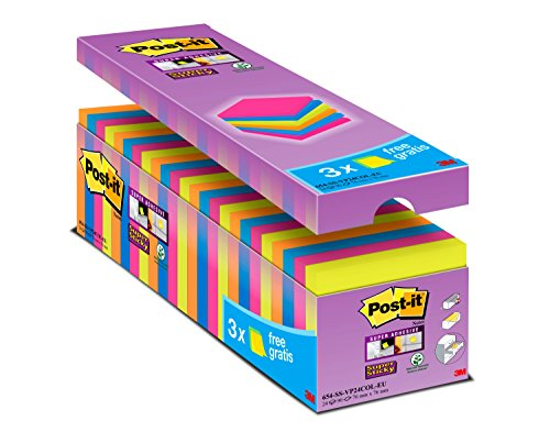 Post-It Bloc de notas adhesivas, 76 x 76 mm, Multicolor