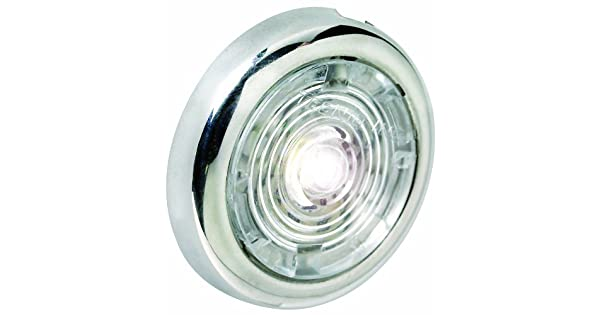 attwood LED Round Interior and Exterior Light Stainless Steel Bezel 1.5-Inch Red 6342R7