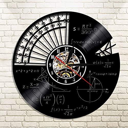 FANCYLIFE Orologio da Parete in Vinile con Tema matematico