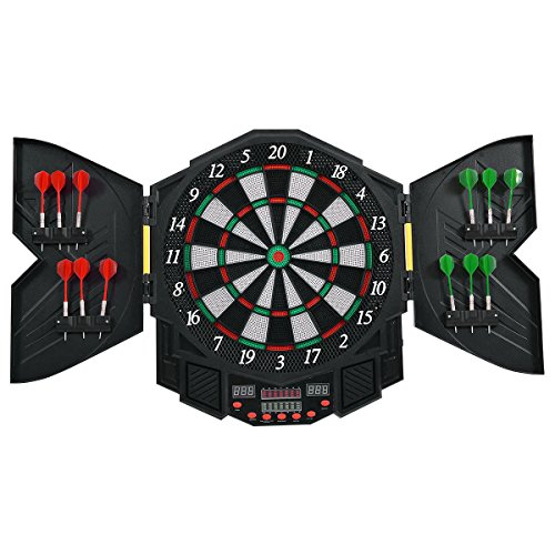 Find Cheap FDInspiration 21.5 Electronic Dart Board LCD Display Sound Effects w/ 12 Soft Tip Darts