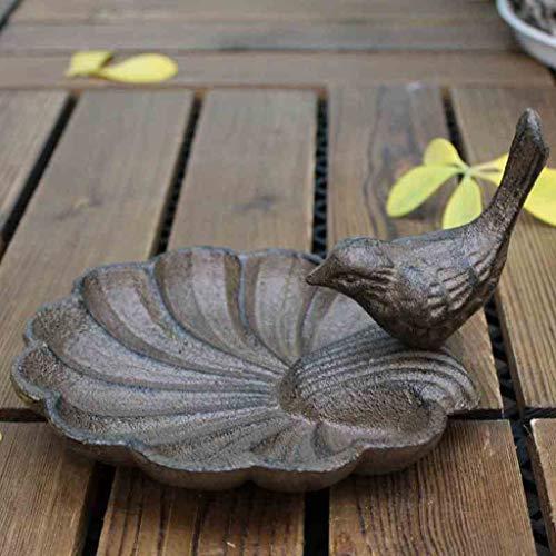CKH Europese gietijzeren ambachten vogel schelp-vormige asbak kandelaar vogel kom huisdecoratie ornamenten