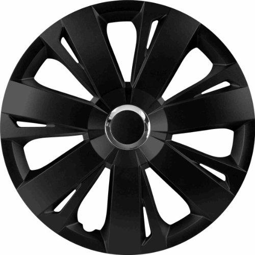 RAU 56029 Radzierblende Radkappe Energy passend für alle gängigen 16 Zoll Stahlfelgen, schwarz - 4-er Set