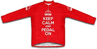 ScudoPro Keep Calm and Pedal On Long Sleeve Cycling Jersey for Women