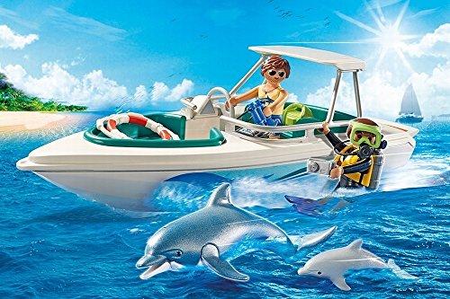 Lancha deportiva con delfines Playmobil - Family Fun (6981)