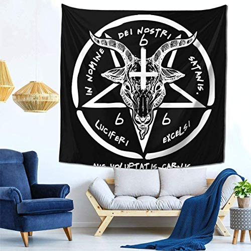 shenguang AdianTa Tapisserie Wall Hanging Baphomet Sigil of Satan The Occult Tapisserie with Art Nature Home Decorations in 59\