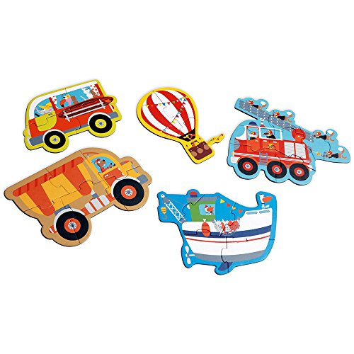 Scratch スクラッチ スタートパズル ビークル 【SC1074】 おもちゃ 知育玩具 パズル ジグソーパズル セット 3ピース 4ピース 5ピース 6ピース 8ピース 乗り物 男の子 女の子 こども 2歳 初めて 簡単 かわいい プレゼント 誕生日