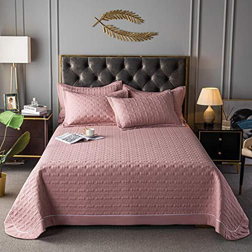 Juego de colcha de cama, funda de edredón acolchada de color puro, cómoda colcha de verano con aire acondicionado fino, sábana de cama, sofá manta de frijoles, juego de 3 piezas, 230250 cm
