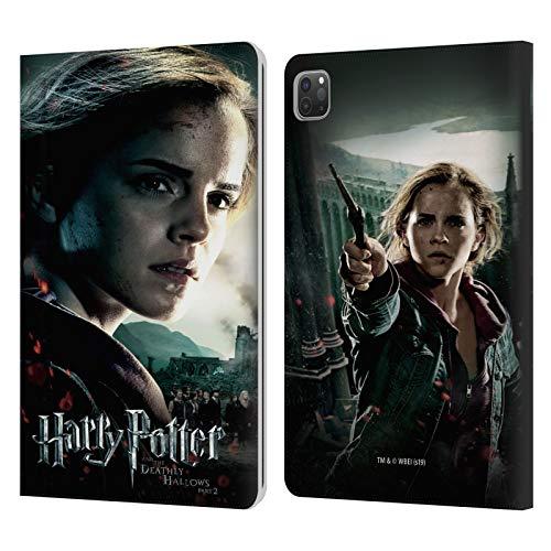 Oficial Harry Potter Hermione Granger Deathly Hallows VIII Carcasa de Cuero Tipo Libro Compatible con Apple iPad Pro 11 (2020)