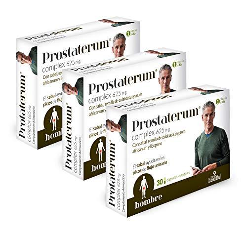 Prostaterum® 625 mg. 30 capsulas vegetales con sabal, semilla de calabaza, pygeum africanum y licopeno. (Pack 2 unid.) (Pack 3 unid.)