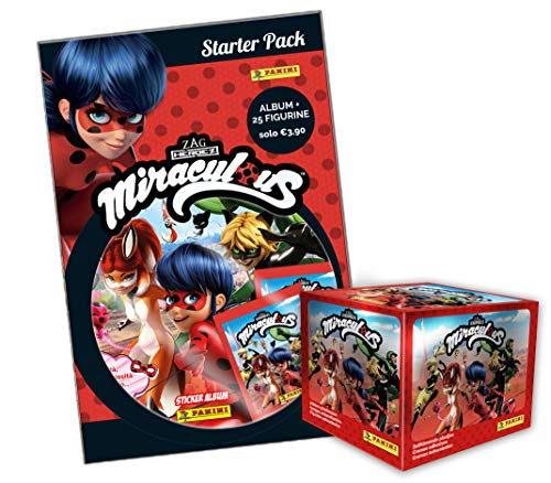 Miraculous Sticker Album Super Starter Pack - Album + 55 Hüllen