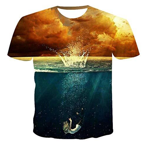T-shirt z nadrukiem T-shirt Odzież hip-hopowa T-shirt z krótkim rękawem Street Druk 3D Topy