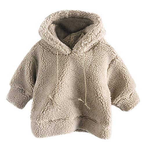 HOMEBABY Kids Baby Meisje Jongen Winter Warm Fleece Hoodie Hooded Fluffy Jas Mantel Sweatshirt Pullover Jumper Peuters Dikke Cardigan Casual Lange mouwen Tops Bovenkleding