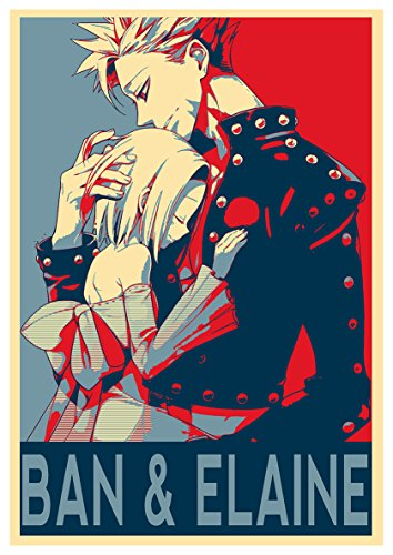 Instabuy Poster Seven Deadly Sins Propaganda Ban & Elaine - A3 (42x30 cm)