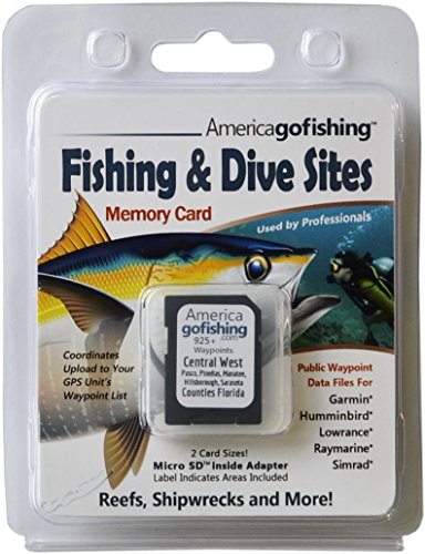 Purchase America Go Fishing - Fishing and Dive Sites Memory Card - Central West Florida