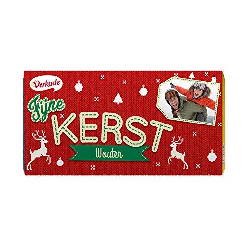 Verkade chocoladereep bedrukken - Kerst (Melk)