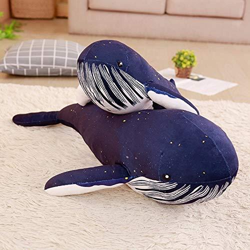 N / A Giocattoli di Peluche, Animali marini, Giocattoli di Peluche Balena Blu, Regali di Compleanno per Bambini, Regali di Festa, fidanzate e Bambini 60 cm