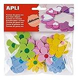 APLI - Bolsa formas EVA adhesiva estampada formas flor, 40 uds
